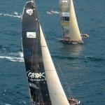 race training sail boat